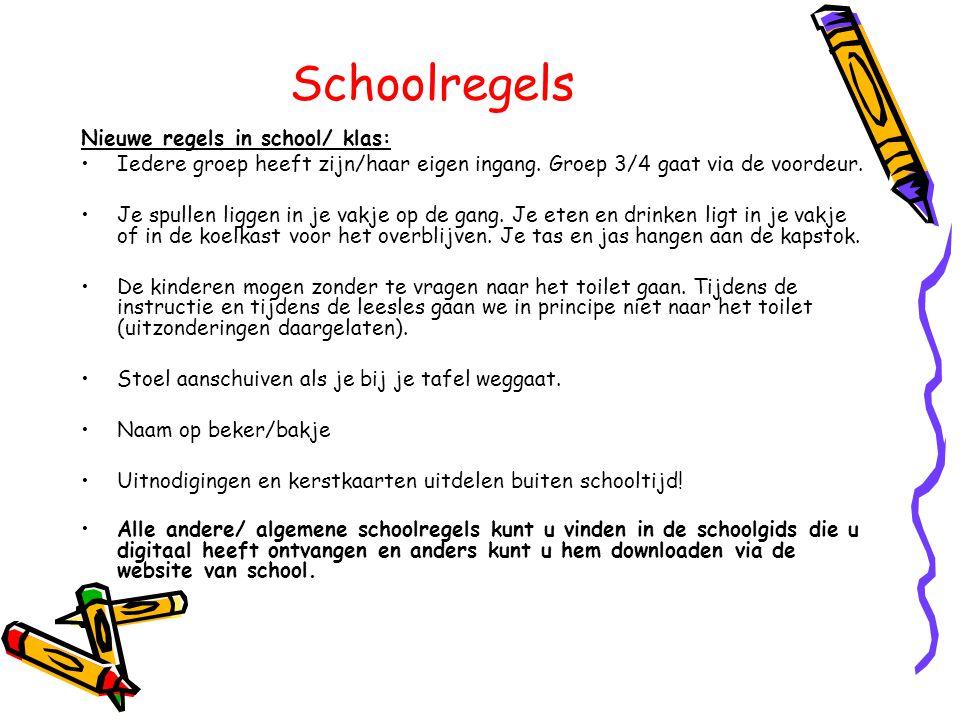 Schoolregels Nieuwe regels in school/ klas: