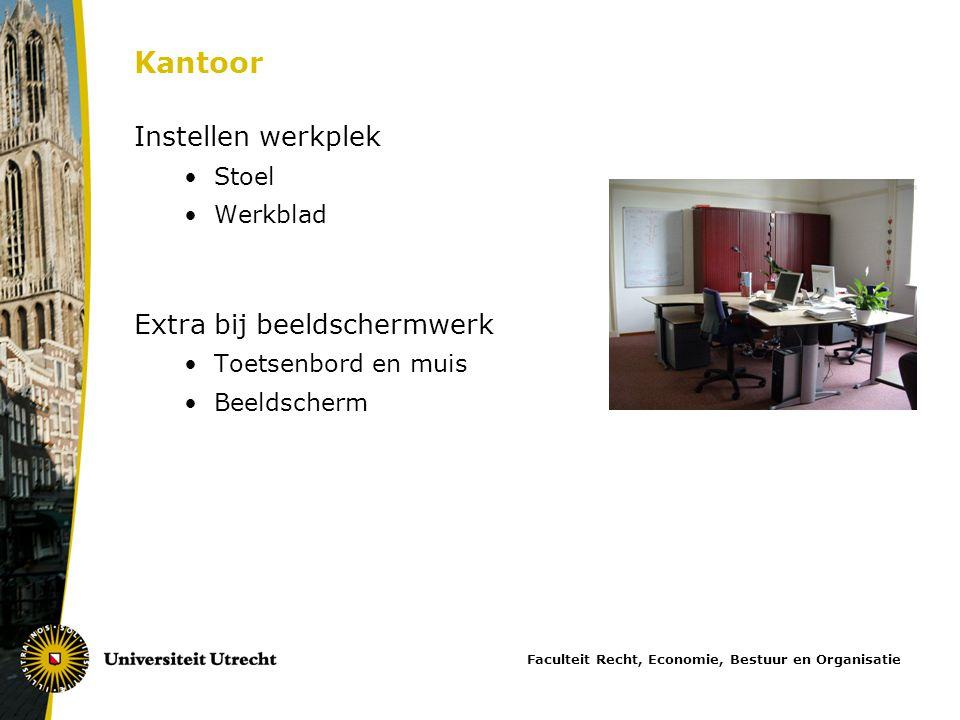 Kantoor Instellen werkplek Extra bij beeldschermwerk Stoel Werkblad