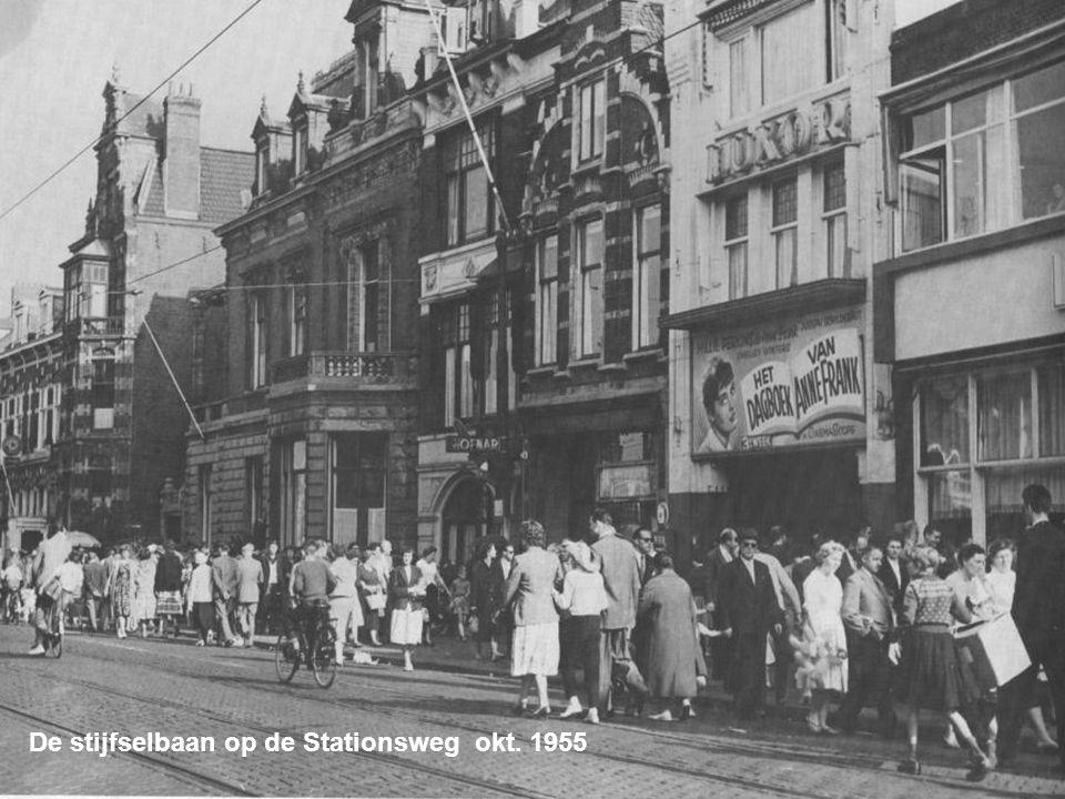 De stijfselbaan op de Stationsweg okt. 1955