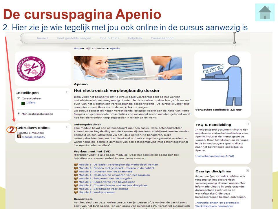 De cursuspagina Apenio