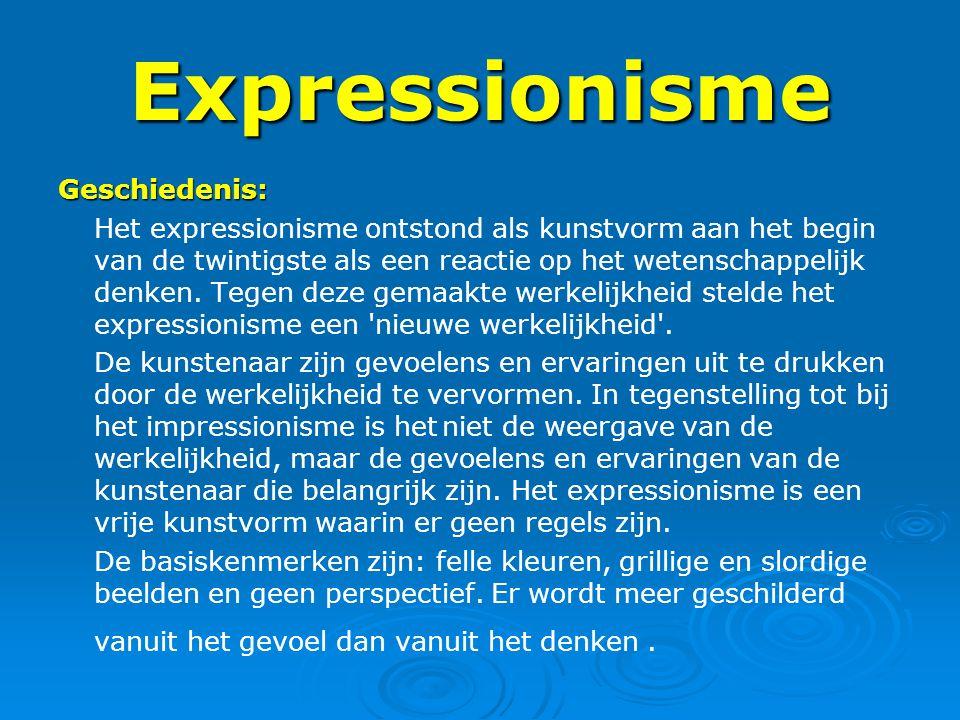 Expressionisme Geschiedenis: