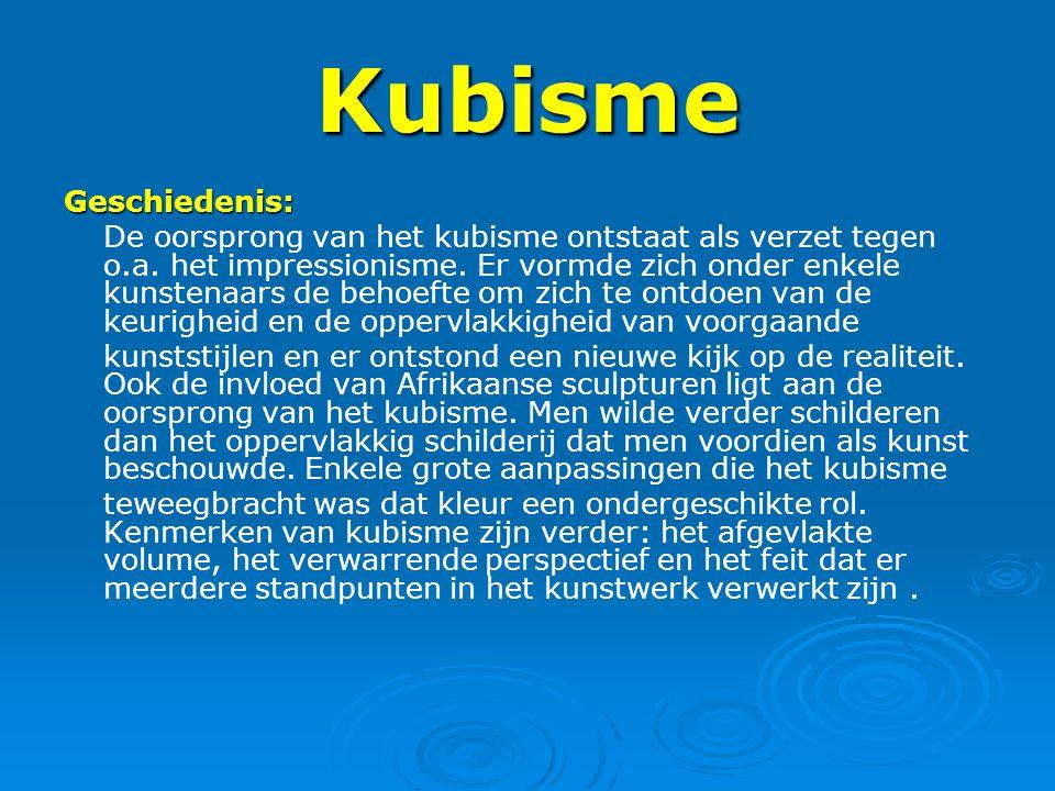 Kubisme Geschiedenis: