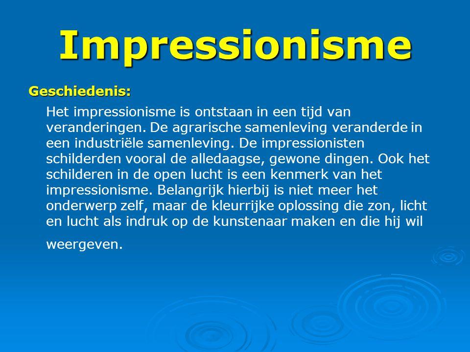 Impressionisme Geschiedenis: