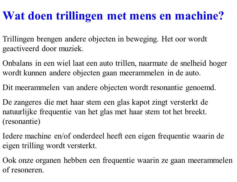 Wat doen trillingen met mens en machine
