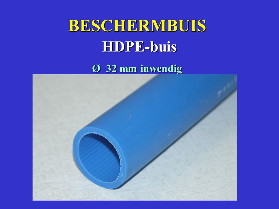 BESCHERMBUIS HDPE-buis Ø 32 mm inwendig