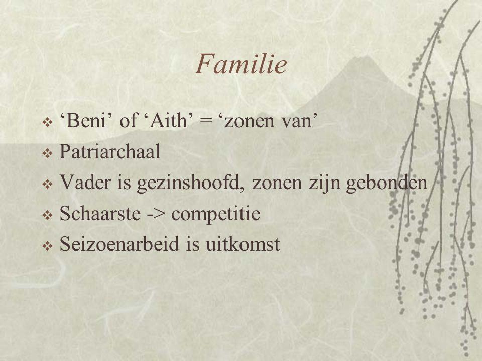 Familie 'Beni' of 'Aith' = 'zonen van' Patriarchaal