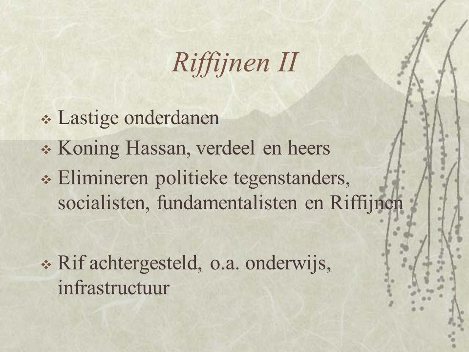 Riffijnen II Lastige onderdanen Koning Hassan, verdeel en heers