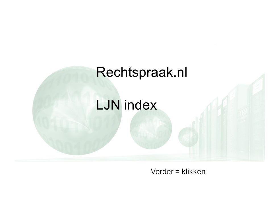 Rechtspraak.nl LJN index