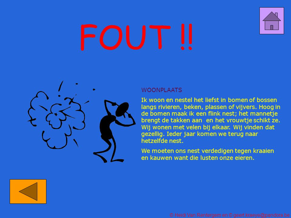FOUT !! WOONPLAATS.