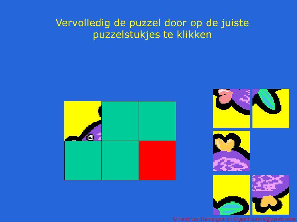 Vervolledig de puzzel door op de juiste puzzelstukjes te klikken