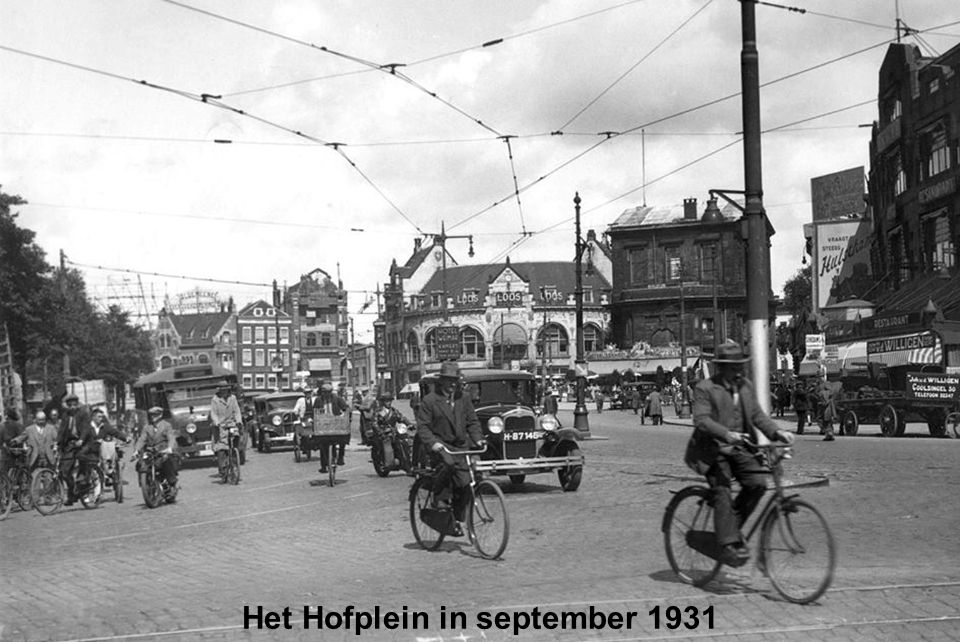 Het Hofplein in september 1931