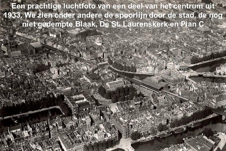 Een prachtige luchtfoto van een deel van het centrum uit 1933