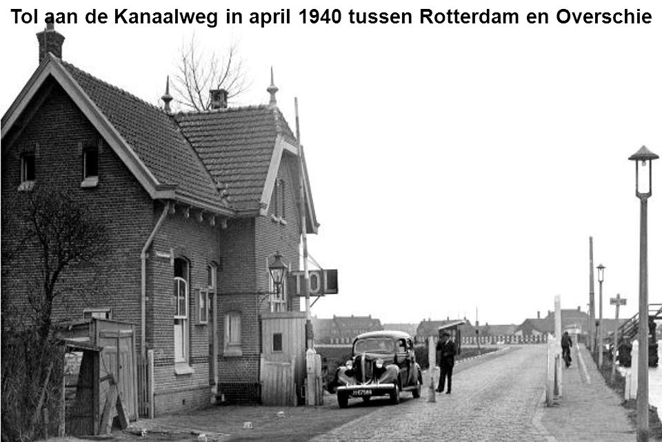 Tol aan de Kanaalweg in april 1940 tussen Rotterdam en Overschie
