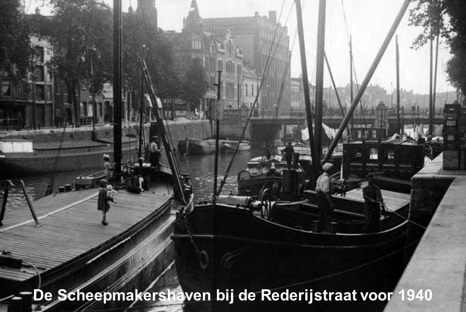 De Scheepmakershaven bij de Rederijstraat voor 1940