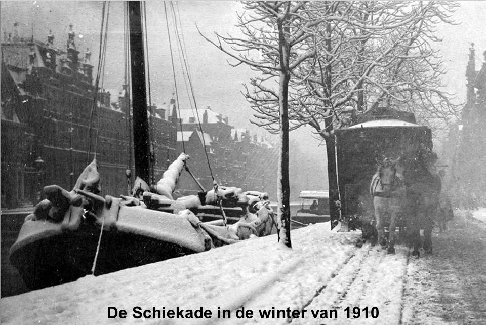 De Schiekade in de winter van 1910