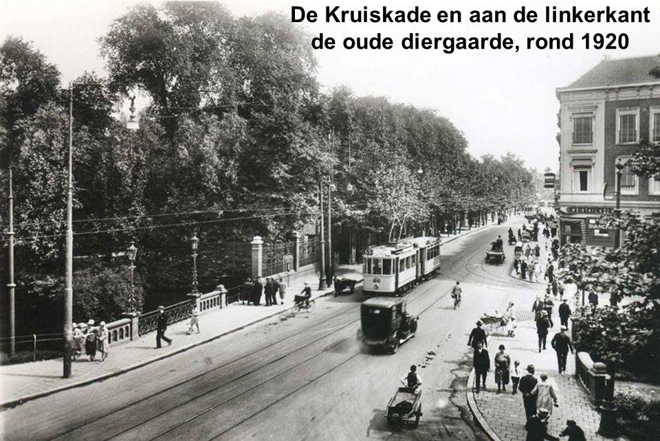 De Kruiskade en aan de linkerkant de oude diergaarde, rond 1920