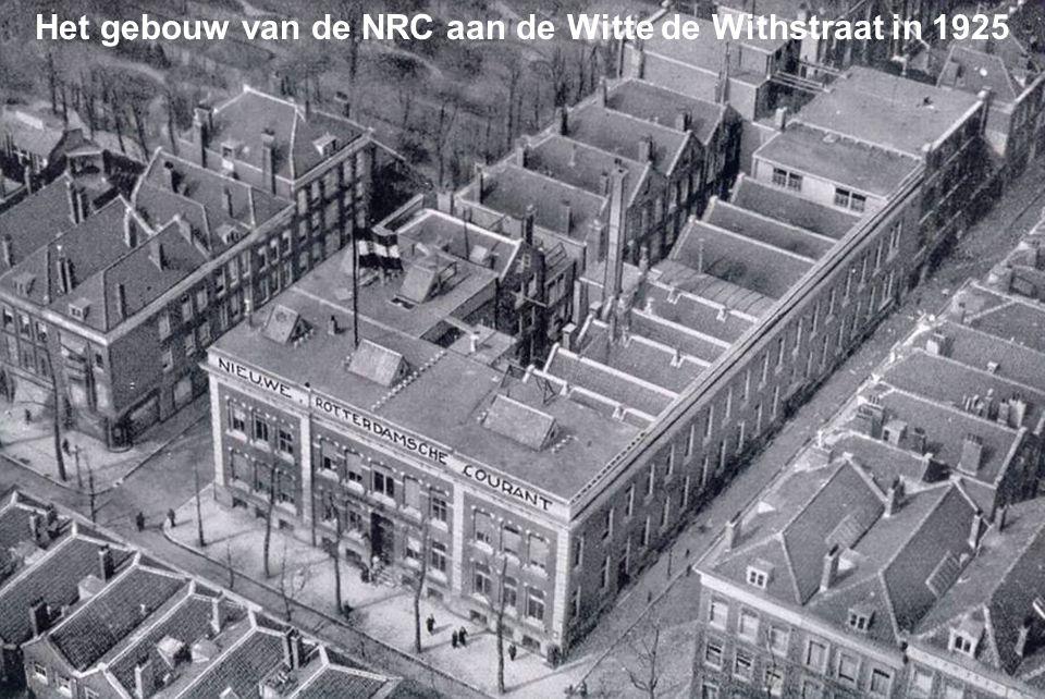 Het gebouw van de NRC aan de Witte de Withstraat in 1925