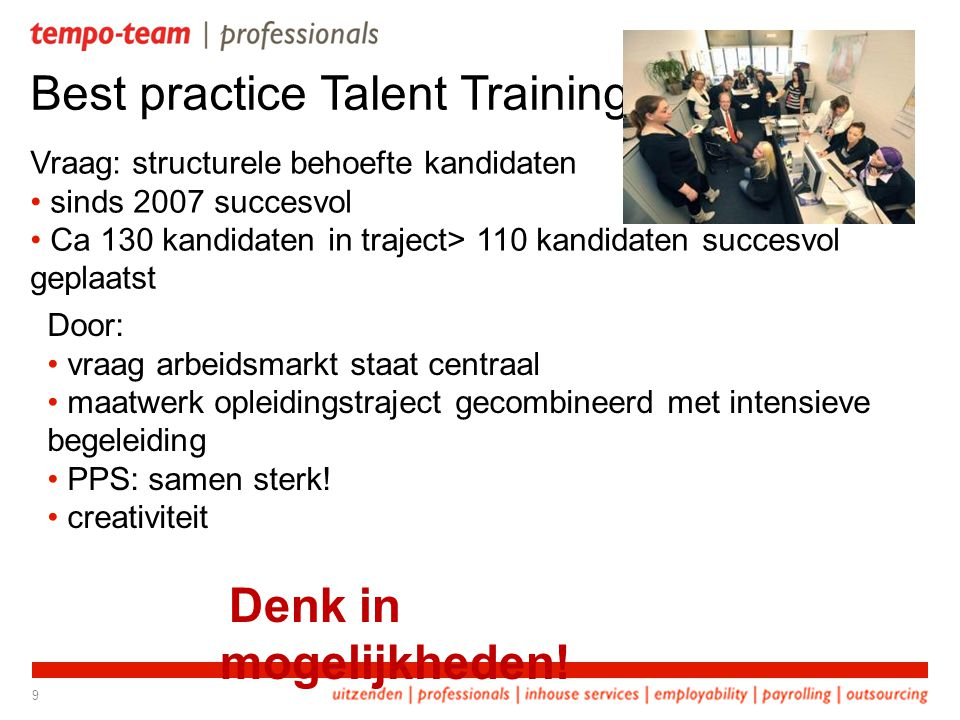 Best practice Talent Training