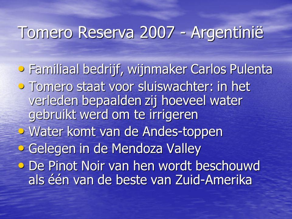 Tomero Reserva 2007 - Argentinië