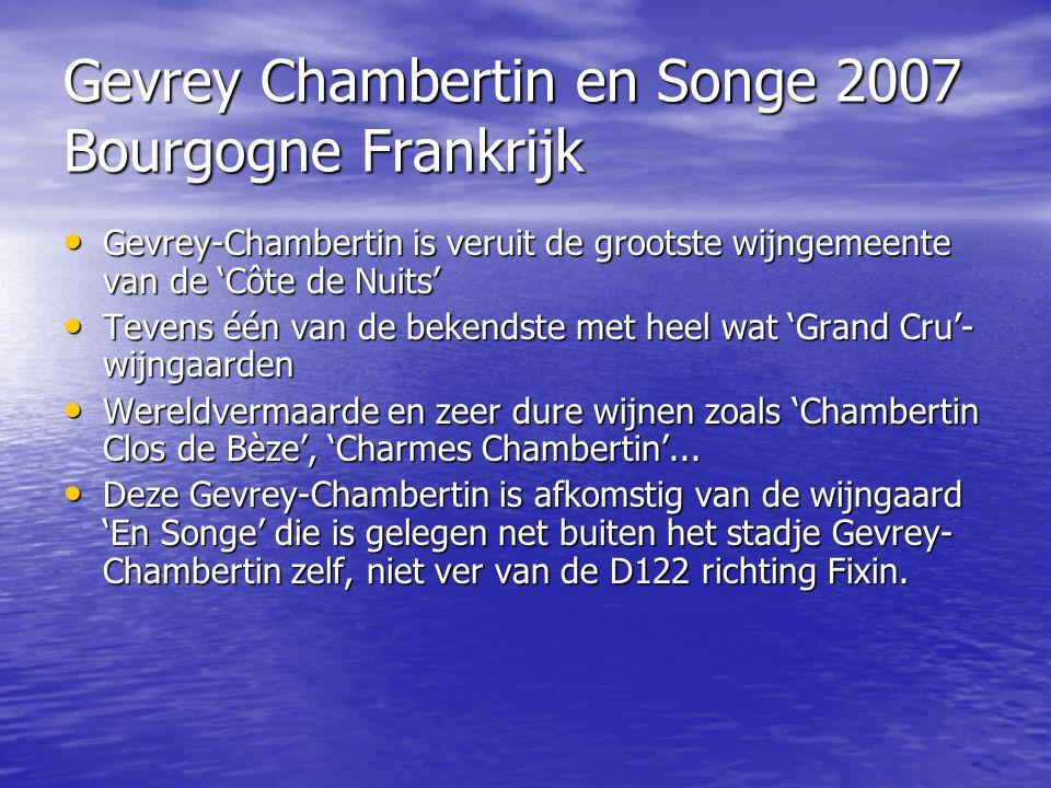 Gevrey Chambertin en Songe 2007 Bourgogne Frankrijk