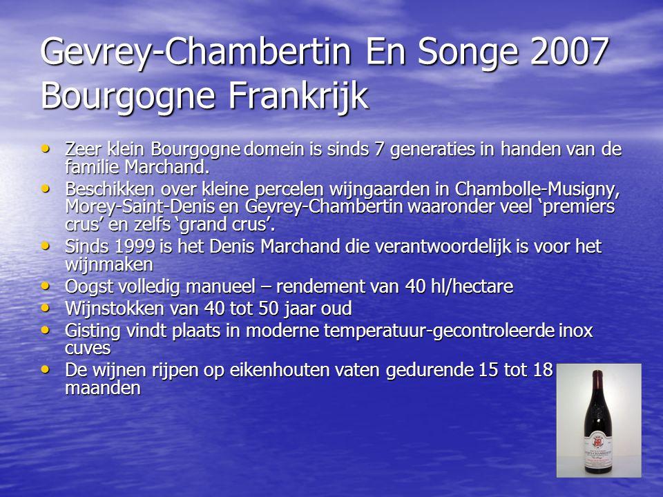 Gevrey-Chambertin En Songe 2007 Bourgogne Frankrijk