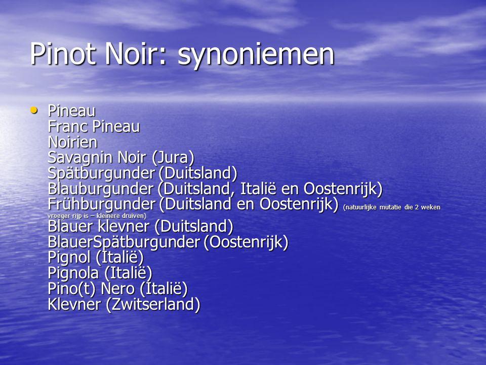 Pinot Noir: synoniemen