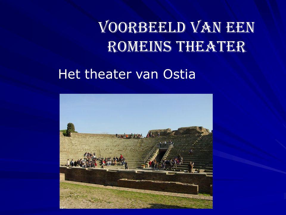 Voorbeeld van een Romeins theater