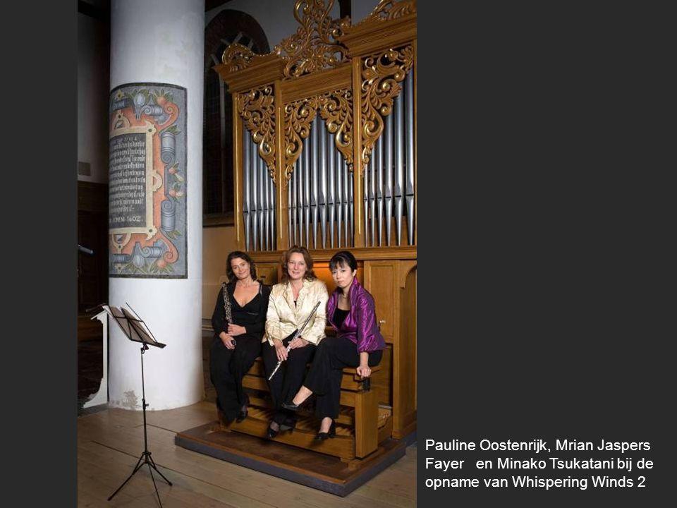 Pauline Oostenrijk, Mrian Jaspers Fayer en Minako Tsukatani bij de opname van Whispering Winds 2