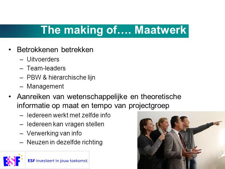 The making of…. Maatwerk