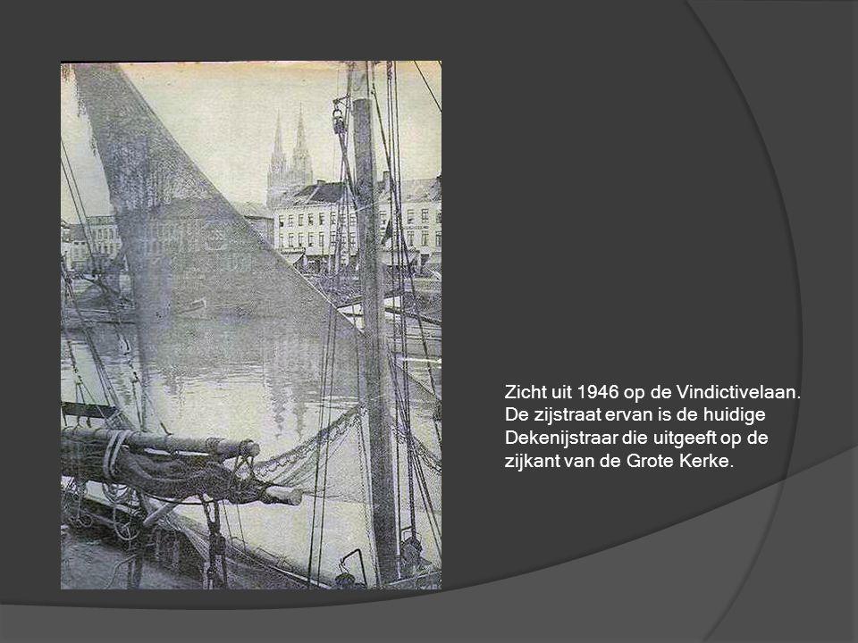 Zicht uit 1946 op de Vindictivelaan.