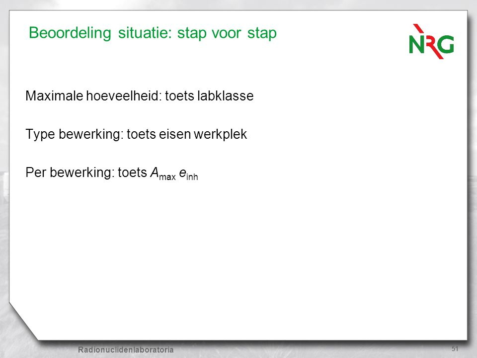 Beoordeling situatie: stap voor stap