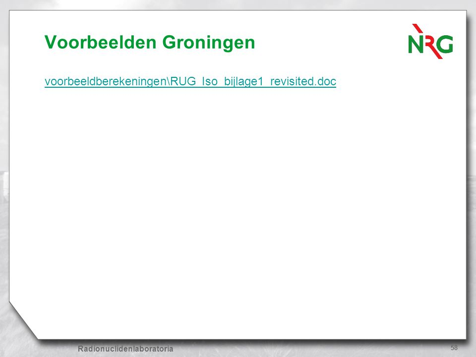 Voorbeelden Groningen