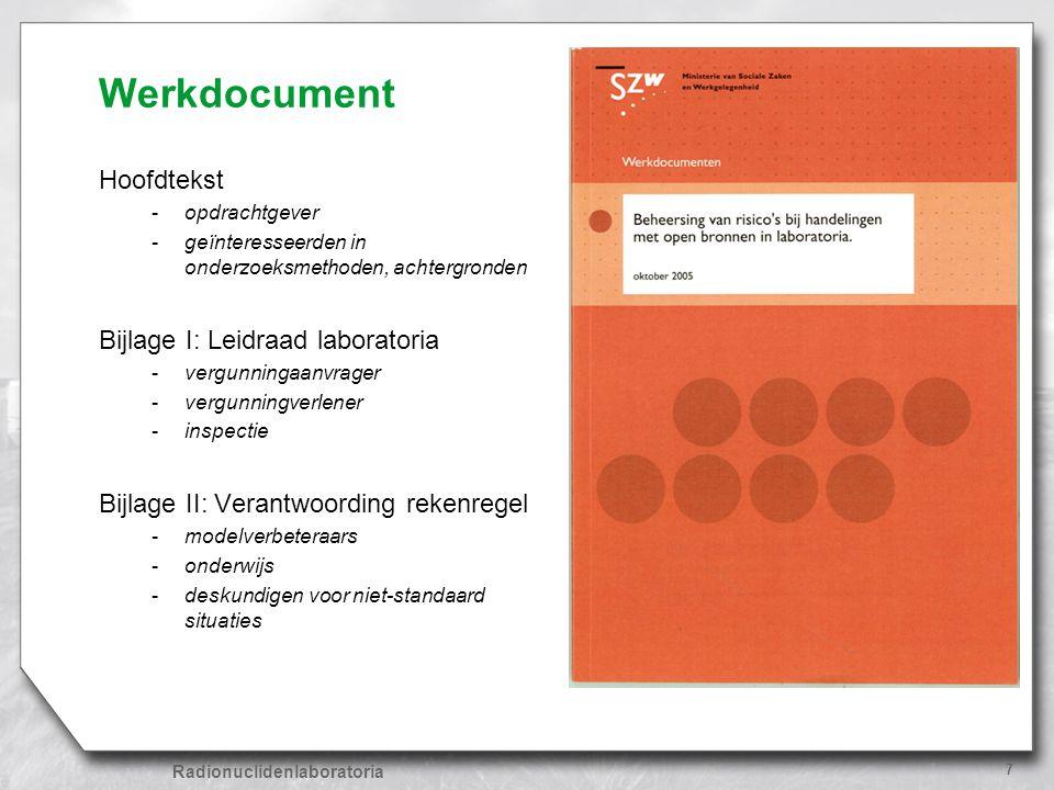 Werkdocument Hoofdtekst Bijlage I: Leidraad laboratoria
