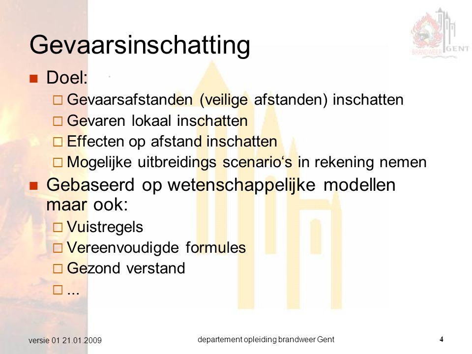 departement opleiding brandweer Gent