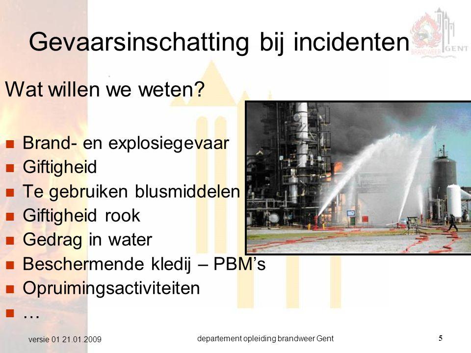 Gevaarsinschatting bij incidenten