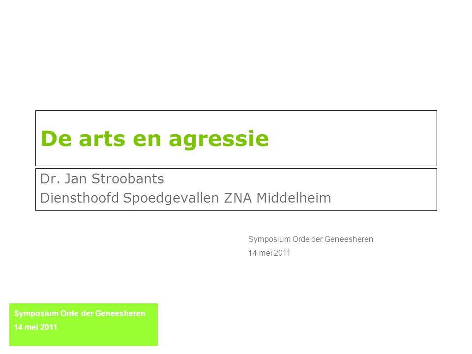 Dr. Jan Stroobants Diensthoofd Spoedgevallen ZNA Middelheim