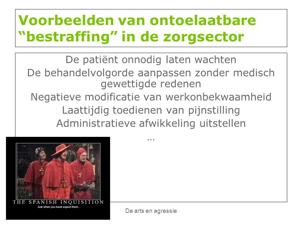 Voorbeelden van ontoelaatbare bestraffing in de zorgsector
