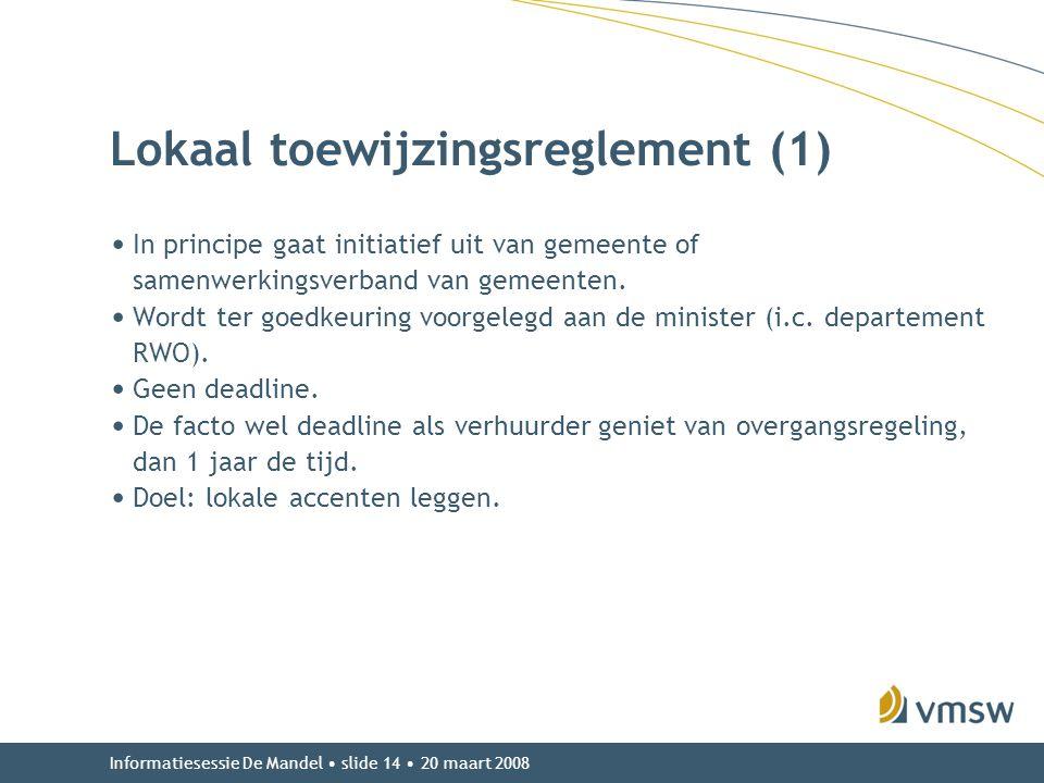 Lokaal toewijzingsreglement (1)