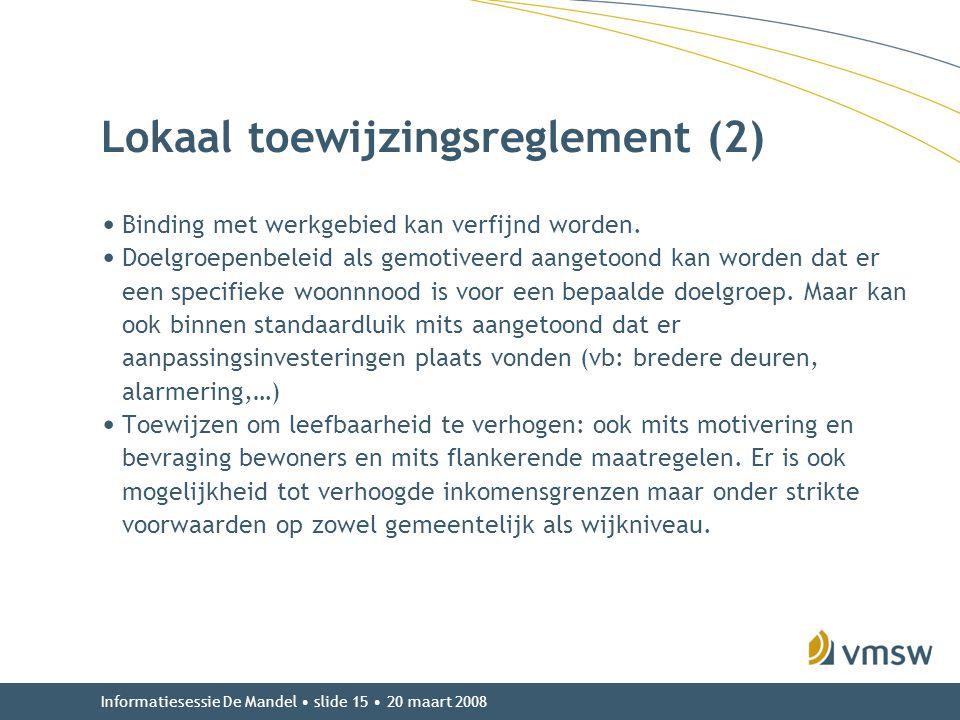 Lokaal toewijzingsreglement (2)