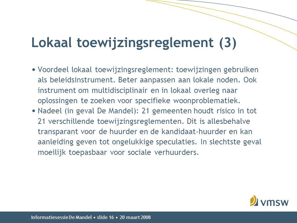 Lokaal toewijzingsreglement (3)