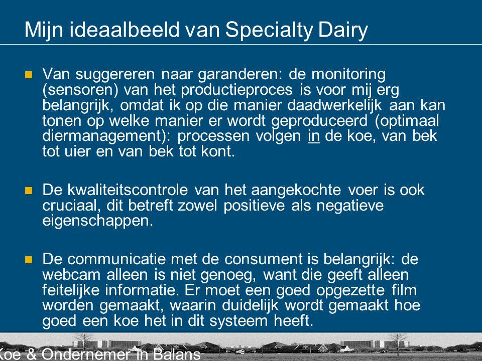 Mijn ideaalbeeld van Specialty Dairy