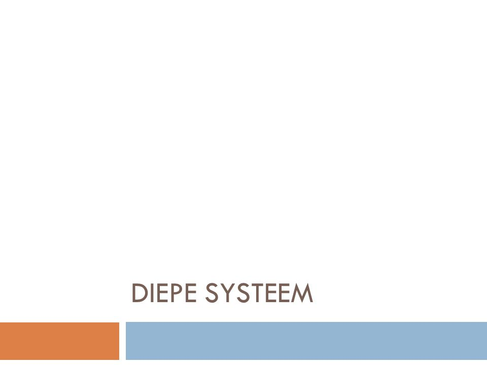 Diepe systeem
