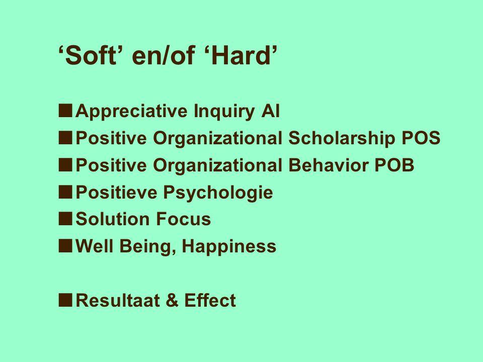 'Soft' en/of 'Hard' Appreciative Inquiry AI