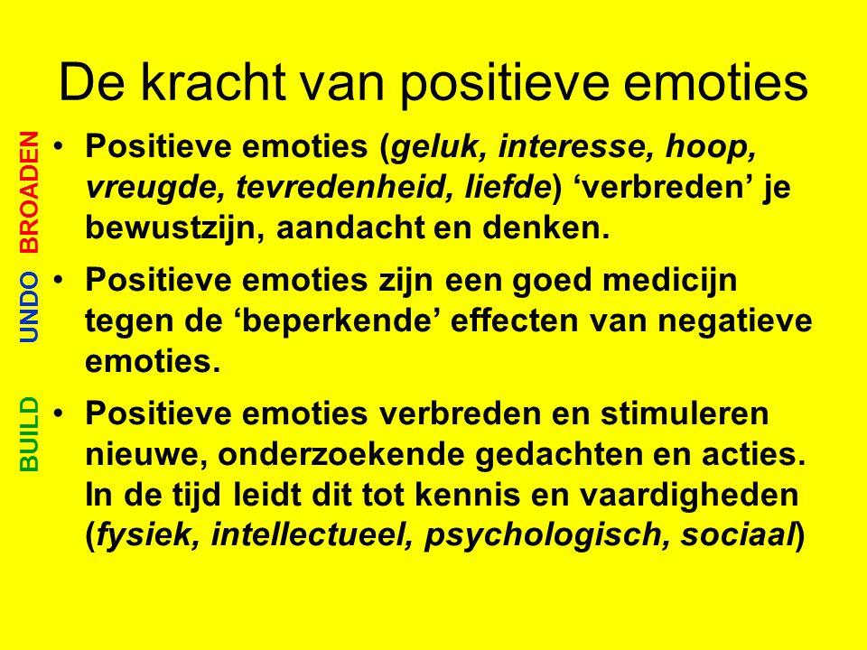 De kracht van positieve emoties