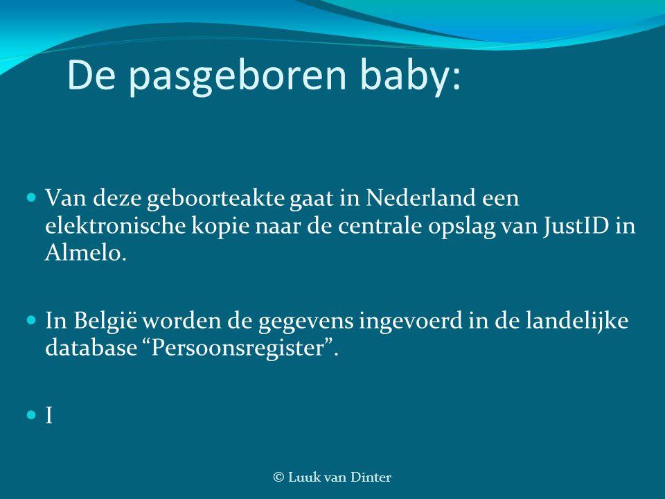 De pasgeboren baby: Van deze geboorteakte gaat in Nederland een elektronische kopie naar de centrale opslag van JustID in Almelo.