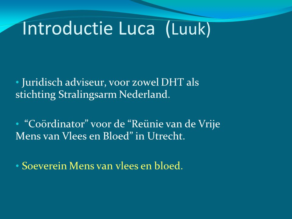 Introductie Luca (Luuk)