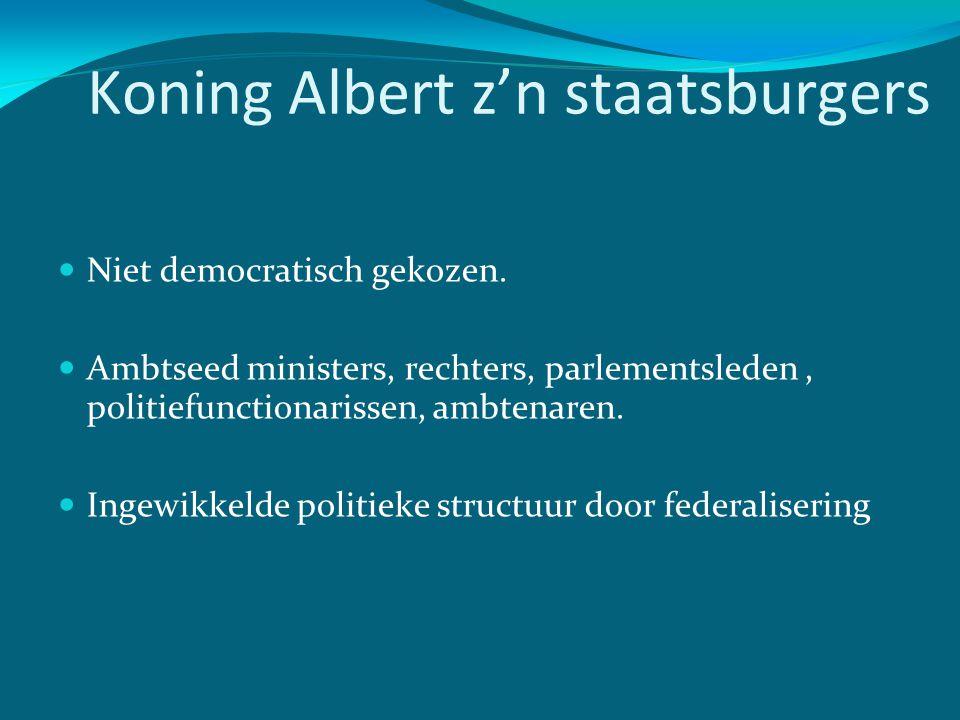 Koning Albert z'n staatsburgers