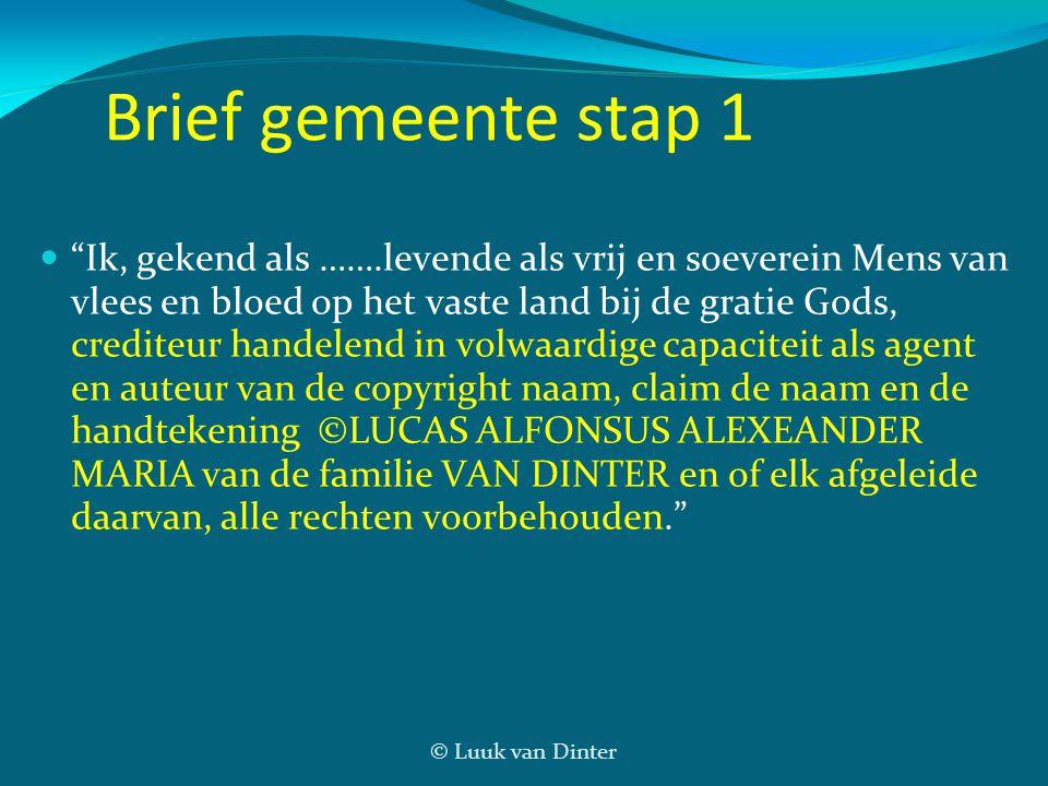 Brief gemeente stap 1