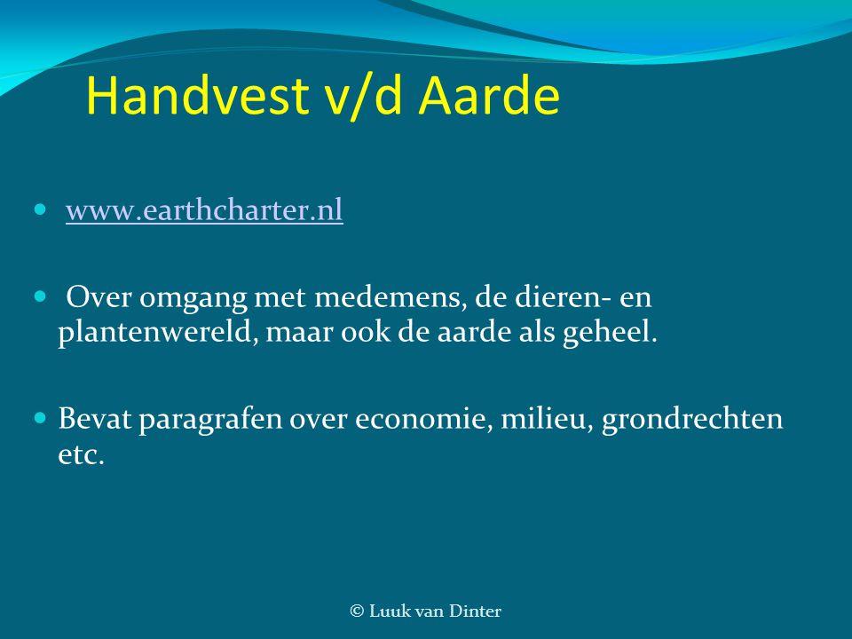 Handvest v/d Aarde www.earthcharter.nl