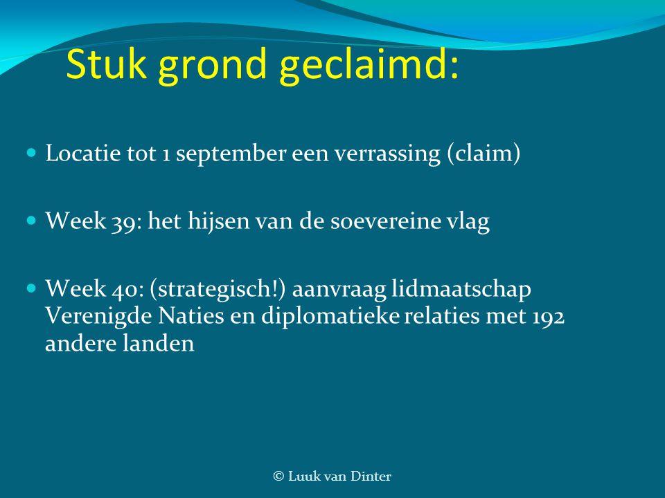 Stuk grond geclaimd: Locatie tot 1 september een verrassing (claim)